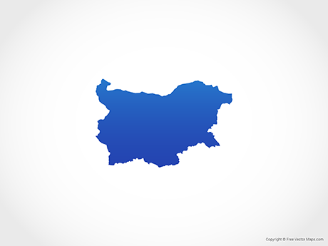 Free Vector Map of Bulgaria - Blue