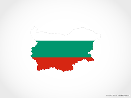 Free Vector Map of Bulgaria - Flag