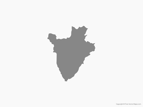 Free Vector Map of Burundi - Single Color