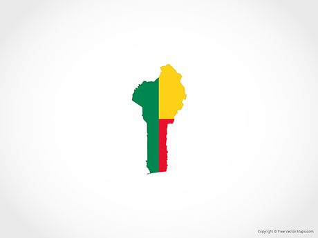 Free Vector Map of Benin - Flag