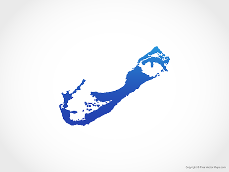 Vector Map of Bermuda - Blue | Free Vector Maps
