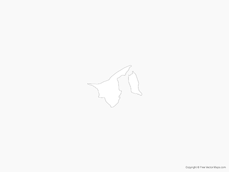 Free Vector Map of Brunei - Outline