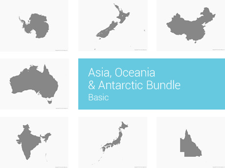 Asia, Oceania & Antarctic Bundle - Basic