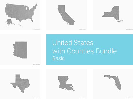 United States with Counties Bundle - Basic
