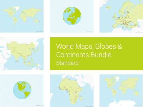 World Maps, Globes & Continents Bundle - Standard