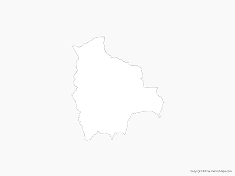 Free Vector Map of Bolivia - Outline