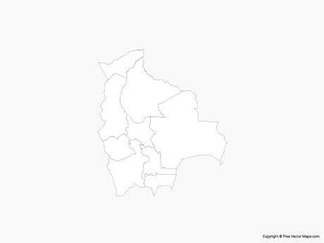 Free Vector Map of Bolivia with Administrative Divisions