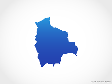 Free Vector Map of Bolivia - Blue