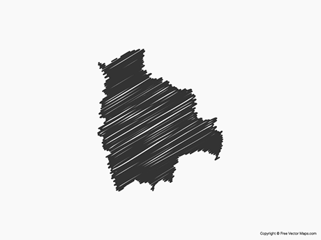 Free Vector Map of Bolivia - Sketch