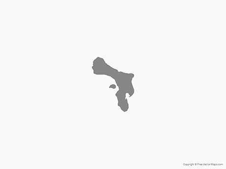 Free Vector Map of Bonaire - Single Color