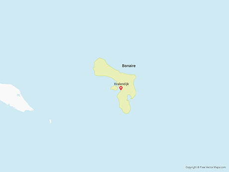 Free Vector Map of Bonaire