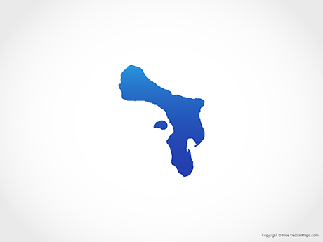 Free Vector Map of Bonaire - Blue