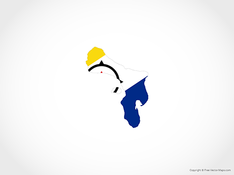 Free Vector Map of Bonaire - Flag