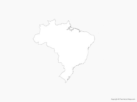 Free Vector Map of Brazil - Outline