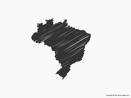 Free Vector Map of Brazil - Sketch