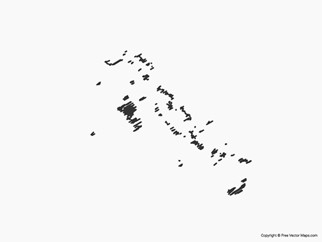 Free Vector Map of Bahamas - Sketch