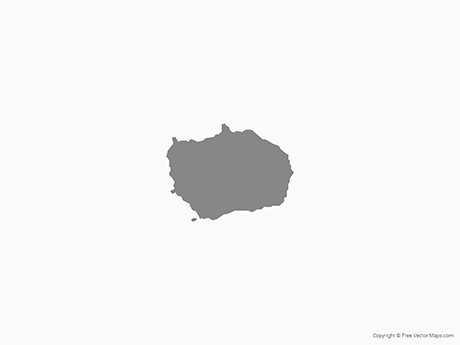 Free Vector Map of Bouvet Island - Single Color