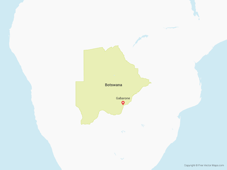 Free Vector Map of Botswana