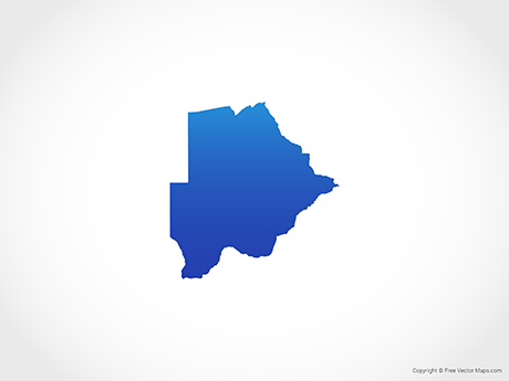 Free Vector Map of Botswana - Blue
