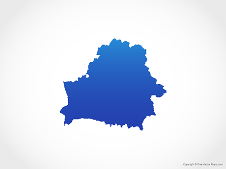 Free Vector Map of Belarus - Blue