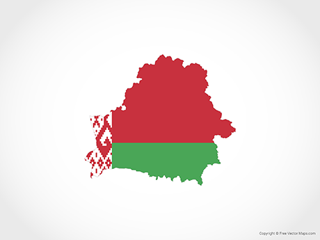 Free Vector Map of Belarus - Flag