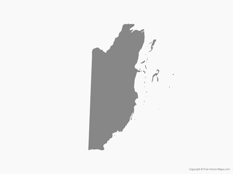 Free Vector Map of Belize - Single Color