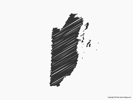 Free Vector Map of Belize - Sketch