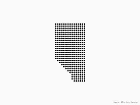Free Vector Map of Alberta - Dots