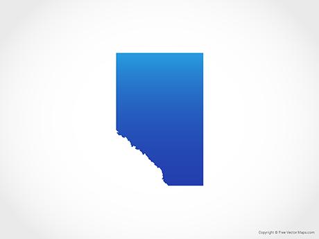 Free Vector Map of Alberta - Blue