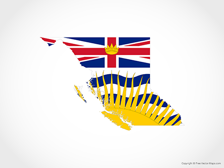 Free Vector Map of British Columbia - Flag