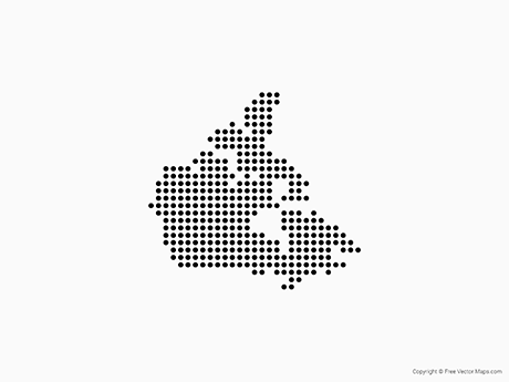 Free Vector Map of Canada - Dots