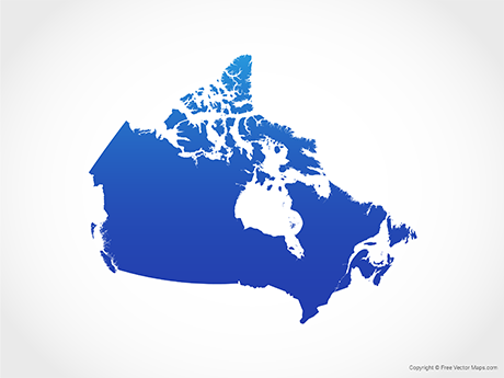 Interactive Map Of Canada And Provinces.Vector Maps Of Canada Free Vector Maps