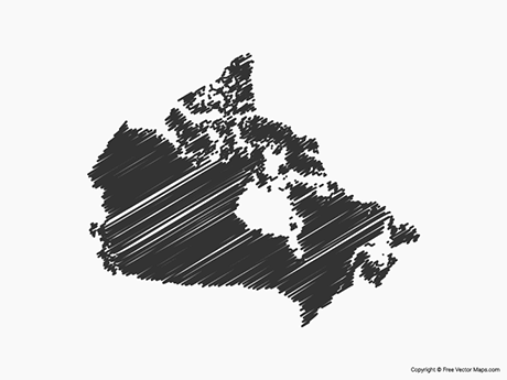 Free Vector Map of Canada - Sketch