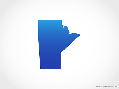 Free Vector Map of Manitoba - Blue