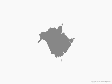 Free Vector Map of New Brunswick - Single Color
