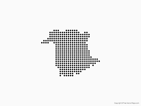 Free Vector Map of New Brunswick - Dots