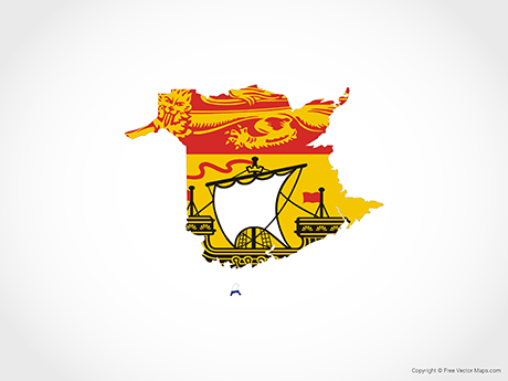 Free Vector Map of New Brunswick - Flag