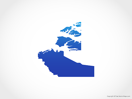 Free Vector Map of Northern Territory - Blue