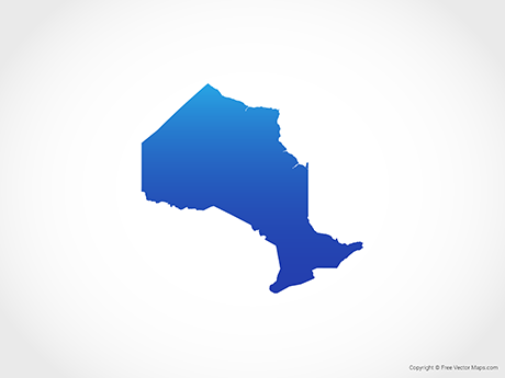Free Vector Map of Ontario - Blue