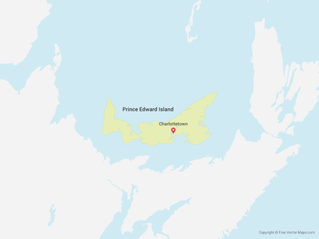 Free Vector Map of Prince Edward Island