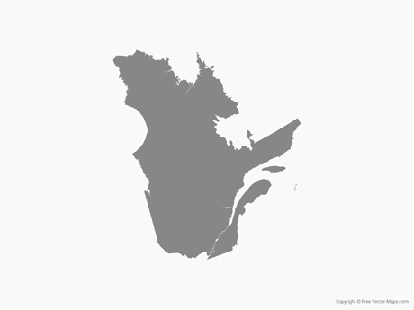 Free Vector Map of Quebec - Single Color