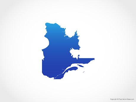 Free Vector Map of Quebec - Blue