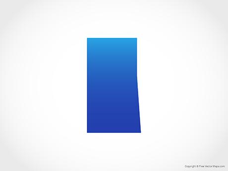 Free Vector Map of Saskatchewan - Blue