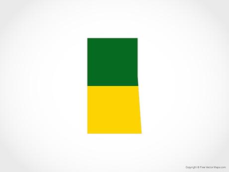 Free Vector Map of Saskatchewan - Flag