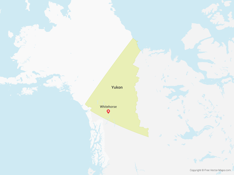 Free Vector Map of Yukon
