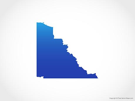 Map of Yukon - Blue
