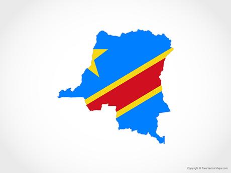 Free Vector Map of Democratic Republic of the Congo - Flag