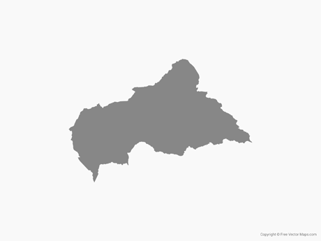 Free Vector Map of Central African Republic - Single Color