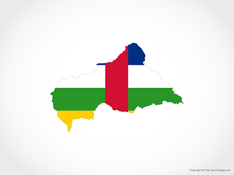 Free Vector Map of Central African Republic - Flag