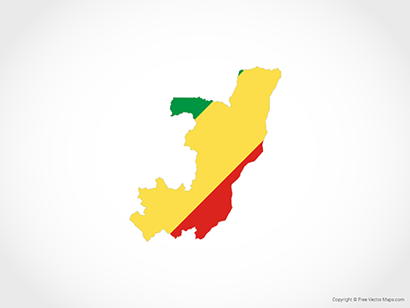 Free Vector Map of Republic of the Congo - Flag